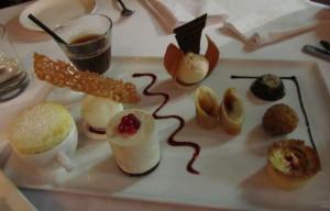 Dessert Plate at Le Bon Vivant