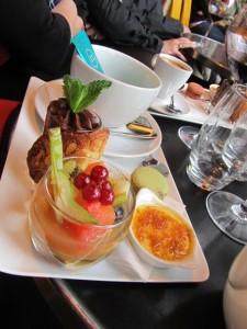 Restaurant dessert sampler