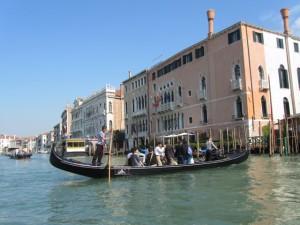 Venetian traghetto crosssing