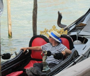 Could this be Giovanni hanging out on his gondola for fear of going home?
