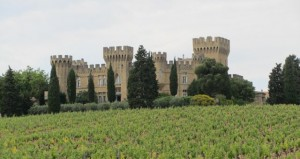 Castle outside Chateau-neuf-du-Pape