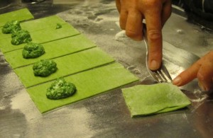 Nettle Ravioli cooking class with Miriam