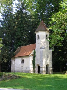 Old chapel near Slovenia spa in Dolenske Toplice.