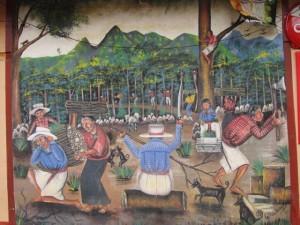 Mural of Mayan Village