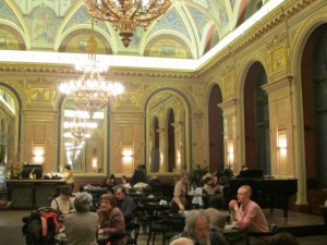 Bookcafé is located on the second floor of the former Paris Department Store, which currently houses the Alexandra bookstore.