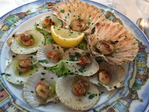 Antipasta of Scallops