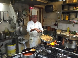 Ruggero in his kitchen