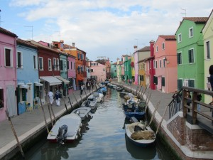 The colorful houses of Burano.