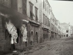 A street in Dubrovnik during the war.