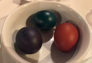 Orthodox Easter Eggs--we arrived just in time.